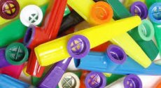 Stagg colored kazoo plastic